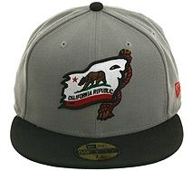 Hat Club Exclusive California Republic Shipwrecked Pride Fitted Hat - Storm Gray, Black