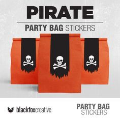 Loot Bags, Party Favor Bags, Pirate Decor, Waterproof Labels, Kraft Bag, I Love My Son, Label Paper, Tent Cards, Party In A Box