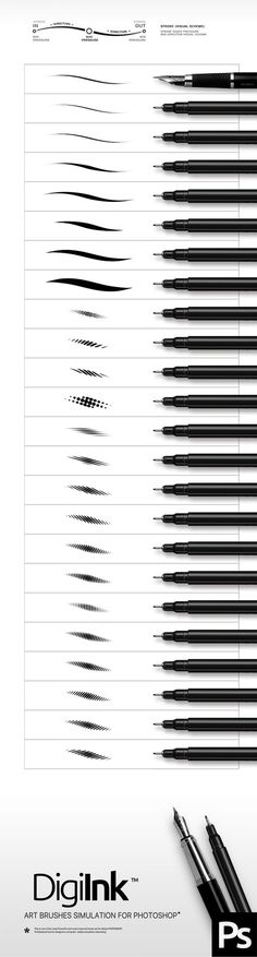 Ink Photoshop Brushes. Download here: http://graphicriver.net/item/ink-brushes/15815662?ref=ksioks