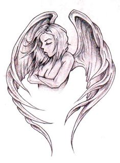 Angel Wings Memorable Tattoo in Real Photo, Pictures, Images and Sketches – Tattoo Collections Angel Girl Tattoo, Angel Tattoo For Women, Tattoo Girls, Girl Tattoos, Tattoos For Women, Tatoos, Engel Tattoo, Stylist Tattoos, Devil Tattoo