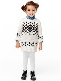 Diamond fair isle sweater dress | Gap