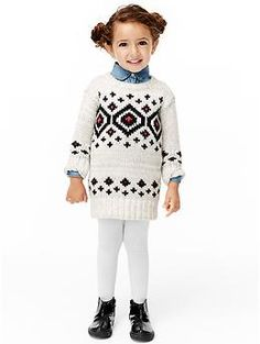 Diamond fair isle sweater dress | Gap