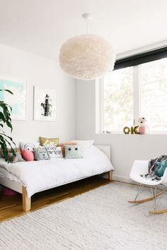 A fun kids' room that's loaded with texture and natural light