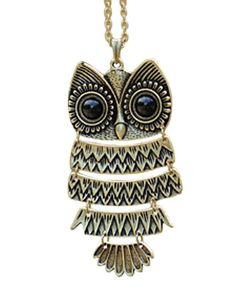 Retro Cute Owl Sweater Necklace only $8.9