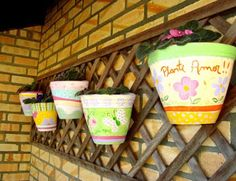 Gil Kuchenbecker: Vasos de ceramica pintados!!