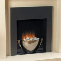 Modern, Wall-mounted Electric Fireplaces