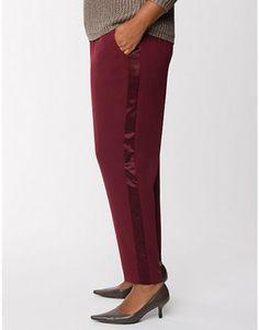 e19443375a5 New lane bryant plus size bordeaux soft pants with tuxedo stripes 22   24