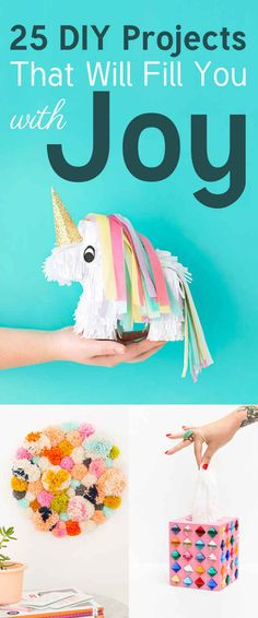 Rainbow unicorn piñata... Need i say more? 25 Insanely Cute DIY Projects That Will Make You Smile