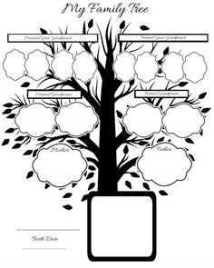 Free-printable family tree:
