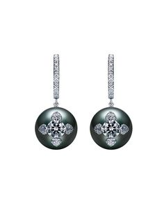 Neo Vintage Earrings - Black South Sea