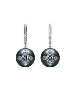 Neo Vintage Earrings - Black South Sea
