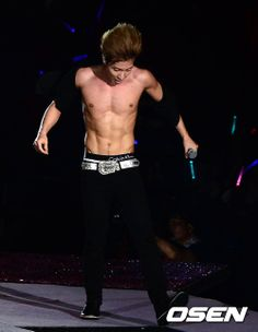 D-560 TO JULY 29, 2014 --- Leeteuk (이특) of Super Junior at the 'SMTOWN Live World Tour 3' concert.