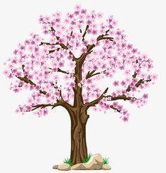 Super ideas for sakura tree png Cherry Blossom Tree, Blossom Trees, Cherry Tree, Tree Branch Tattoo, Tree Clipart, Tree Templates, Pink Trees, Spring Tree, Tree Illustration