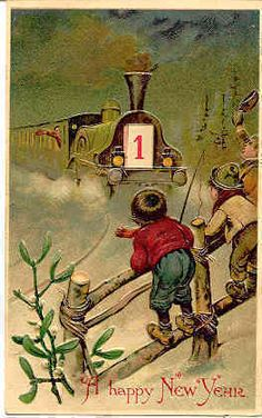 happy new year vintage mechanical calendar post card card has a dialed wheel