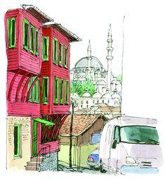Estambul (ilustrado)   Fotogalería   El Viajero   EL PAÍS