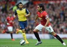 Radamel Falcao, handed a rare start because of an injury to Wayne Rooney, looks to make an impact for Manchester United