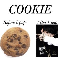 Before and after k-pop: cookie by mynotebookofstyle on Polyvore featuring art, bts and jungkook