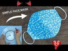 Make Fabric Face Mask at home | DIY Face Mask No Sewing Machine | Easy Face Mask Pattern DIY Fabric Face Mask Using Plate + Video | Fabric Art DIY<br> Easy Face Masks, Diy Face Mask, Simple Face, Fabric Art, Plate, Sewing, Pattern, How To Make, Dressmaking