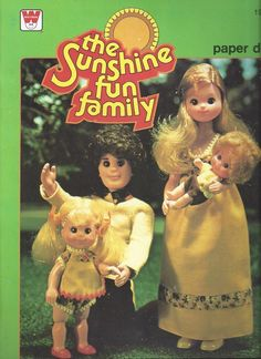 The Sunshine Fun Family Vintage Paper Doll, 1978