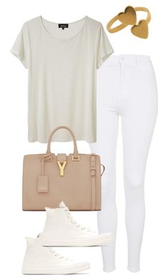 """Untitled #47"" by bxcka ❤ liked on Polyvore featuring Topshop, A.P.C. and Yves Saint Laurent"