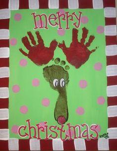 hand & foot reindeer