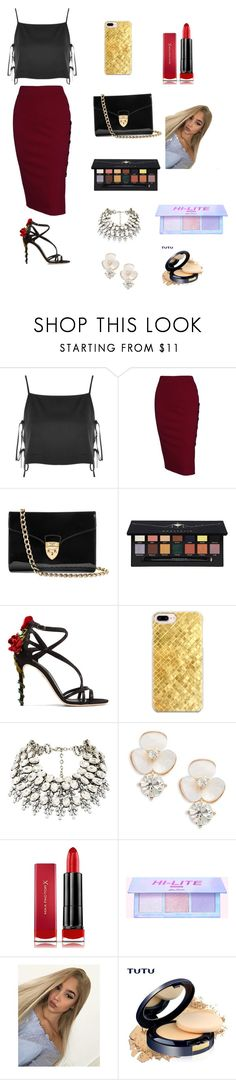 """""""Busy Work Day 💋😏"""" by santana15 ❤ liked on Polyvore featuring Topshop, Aspinal of London, Anastasia Beverly Hills, Dolce&Gabbana, Casetify, Kate Spade and Max Factor"""