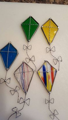 Stained glass kite by glassandthings on Etsy