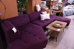 Get a funky modern or mid century look with this fun sectional!