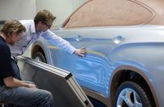 BMW X6 Clay Model reflections evaluation