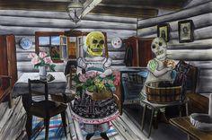 Old Skull Lovers 120 x 180 cm, 2016