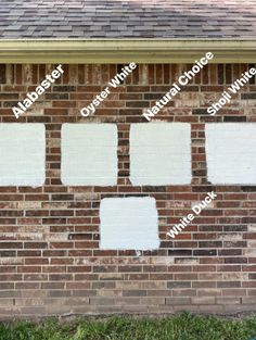 The 5 White Exterior Paint Colors we Tested - Cotton Stem White Exterior Paint, White Exterior Houses, White Siding, Exterior Paint Colors For House, Paint Colors For Home, Diy Exterior Brick Painting, Brick Paint Colors, White Paint Colors, Neutral Paint