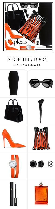 """""""pleats"""" by sandevapetq ❤ liked on Polyvore featuring Theory, Acne Studios, Yves Saint Laurent, Old Navy, Jimmy Choo, MSGM, Baume & Mercier, Lancôme, The Beautiful Mind Series and Agent Provocateur"""