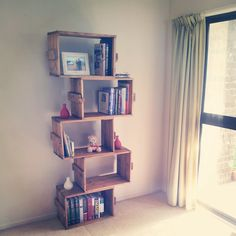 My recycled pallet bookshelf. Super stoked with it.