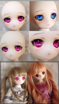Custom Volks Dollfie Dream HDD-01 on Y!J - Those eyes! More anime than BJD to me!