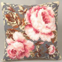 Cross stitch cushion kit - Antique Rose  #myhigh