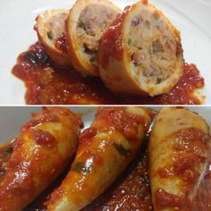 Stuffed squid is a classic Sardinian recipe. Here the version of Maura. Stuffed squid is a classic Sardinian recipe. Here the version of Maura. Calamari Recipes, Squid Recipes, Fish Recipes, Seafood Recipes, Cooking Recipes, Meal Recipes, Italian Dishes, Italian Recipes, Food Blogs
