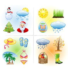 Royalty-Free Vector Images by filata (over Weather For Kids, Vector Game, Coffee Vector, Nature Vector, Education Icon, Weather Seasons, Free Graphics, Motion Graphics, Travel Icon