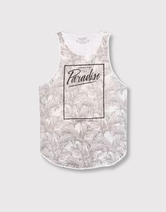 FLORAL PRINT TANK TOP - T-SHIRTS - MAN - PULL&BEAR Indonesia
