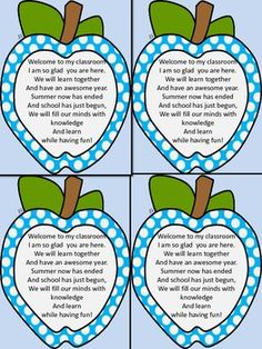 Dotted Apple Welcome To My Class Notes for Beginning of Sc