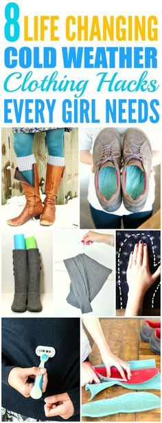 These 8 Incredible Cold Weather Clothing Hack are THE BEST! I'm so glad I found these AWESOME tips! Now I have some cute way to keep warm! Definitely pinning for later!