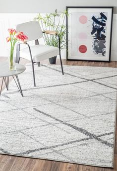 nuLOOM THIGPEN Grey   Modern Rug by nuLOOM at Contemporary Modern Furniture  Warehouse - 2