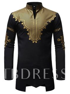 Ericdress African Fashion Dashiki Print Stand Collar Mens Slim Shirt We Offer Top Good Quality Cheap Clothes For Women And Men Clothing Wholesaler, Get Affordable Clothing At Worldwide. Stand Collar Shirt, Collar Shirts, African Men Fashion, Fashion Men, Latest Fashion, Fashion Tips, Dashiki, Casual Shirts For Men, Men Shirts