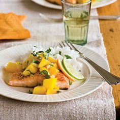 Arctic Char: Our New Favorite Fish   Seared Arctic Char with Warm Mango-Lime Salsa   CoastalLiving.com