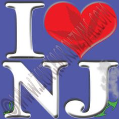 "Help make New Jersey greener. Up close ""I [heart] NJ"" actually reads ""I love ga-NJ-a"". http://www.cafepress.com/thenaughtynook/10428714"