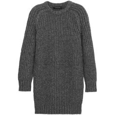 Chunky-knit alpaca-blend mini dress (£282) ❤ liked on Polyvore featuring dresses, sweaters, tops, clothes - dresses, mini dress, short dresses and cedric charlier dresses