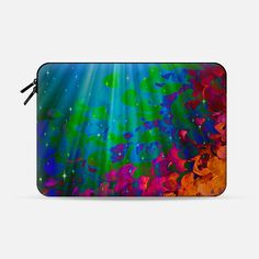 """Under the Sea"" by Artist Julia Di Sano, Ebi Emporium on @casetify  Fine Art Abstract Acrylic Painting Fun Rainbow Multicolor Ocean Waves Splash Neon Ombre Pattern Feminine Girly Summer Design Colorful Tech Device Macbook Laptop Sleeve #art #fineart #rainbow #colorful #neon #multicolor #mermaid #fantasy #ocean #waves #splash #macbookpro #macbookair #sleeve #macbook #chic #ombre #painting #techdevice #tech #MacbookCover #pattern  Get $10 off using code: 5K7VFT"