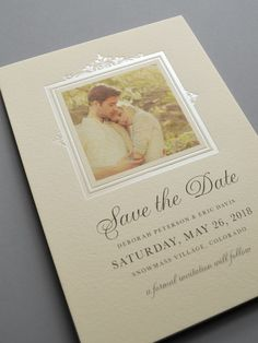 Kleinfeld Paper || Brocade Border Photo Save-the-Date