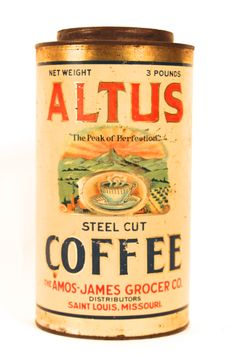 Altus Steel Cut Coffee, Amos-James Grocer Co., St. Louis, MO 1910