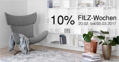 BoConcept NRW: 10% FILZ-Wochen – bis 05.03.17 http://boconcept-experience.de/koeln_duesseldorf_essen/filz-bei-boconcept/