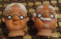 Mr. & Mrs. Claus Heads  ///  ESTATE FIND by fowlnfelines on Etsy